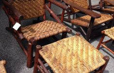 Antique Old Hickory Furniture Awesome Old Hickory Prison Made Lean Back Chair With Matching