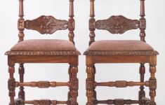 Antique Spanish Colonial Furniture Beautiful Pair Of Antique Walnut Chairs With Acorn Finials