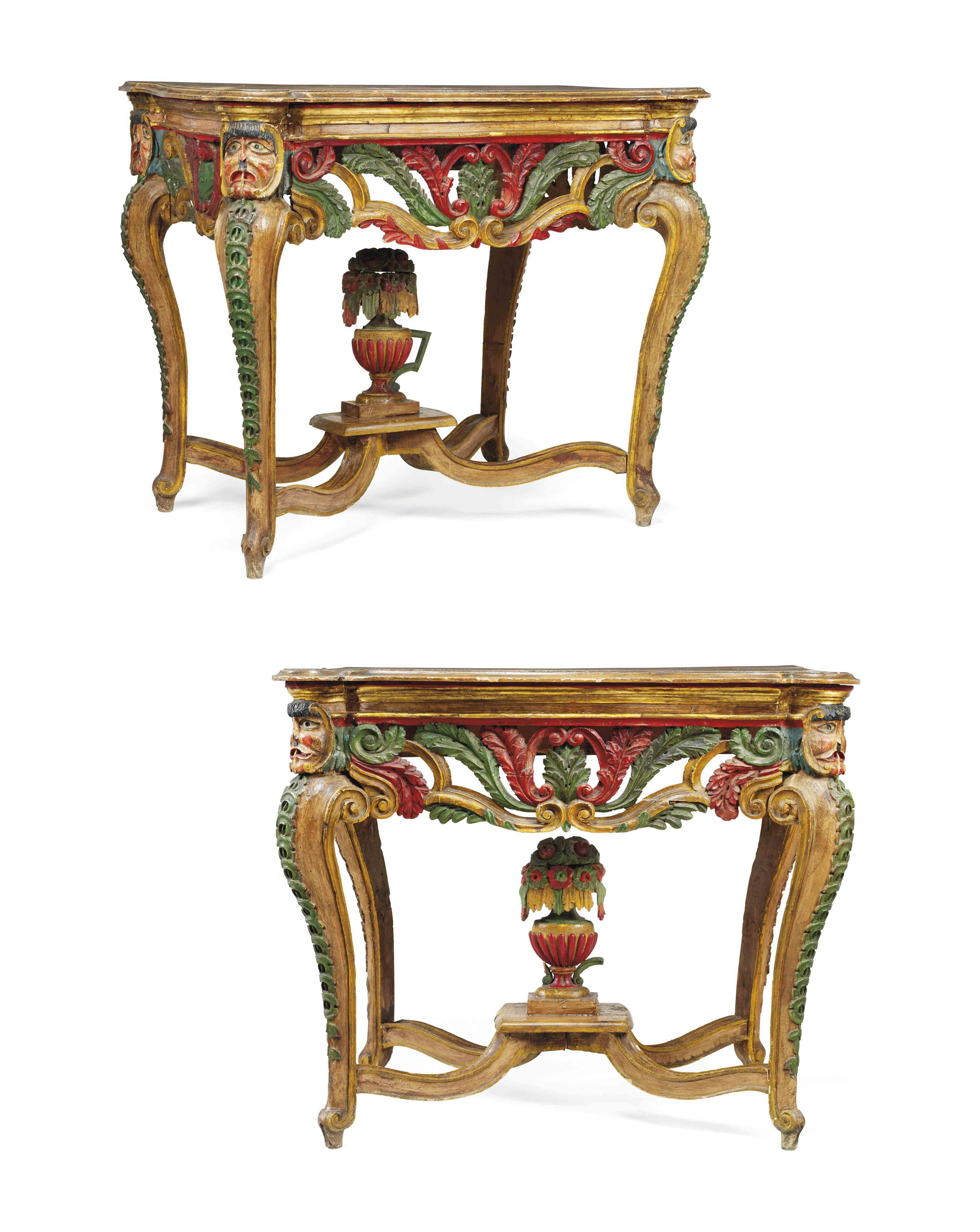 Antique Spanish Colonial Furniture Best Of A Pair Of Spanish Colonial Parcel Gilt and Polychrome
