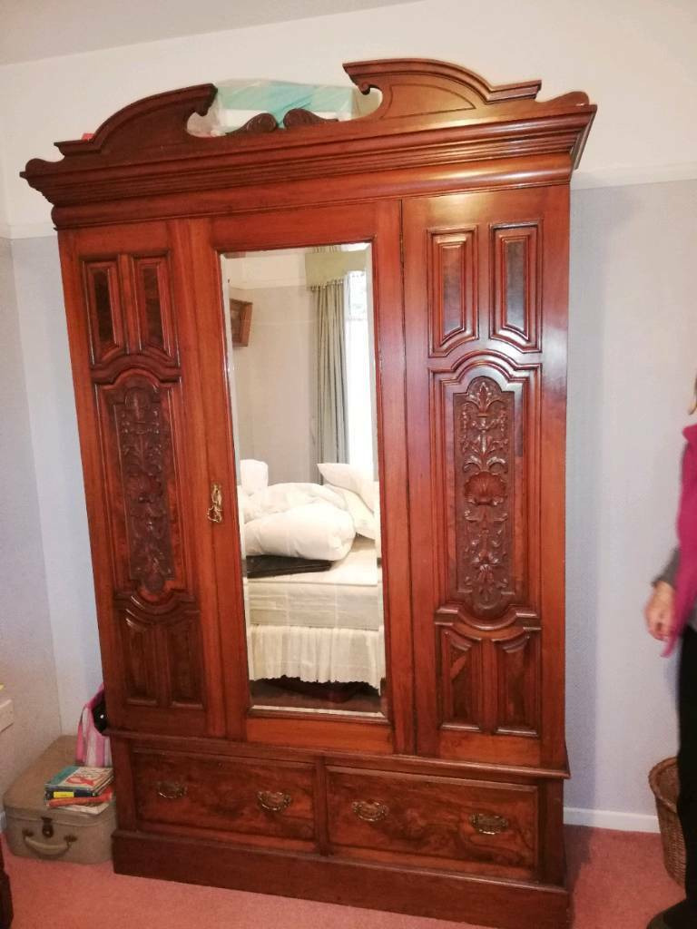 Antique Victorian Bedroom Furniture New Late Victorian Antique Dressing Table Drawers Triple Wardrobe Mahogany Bedroom Set In Dundonald Belfast
