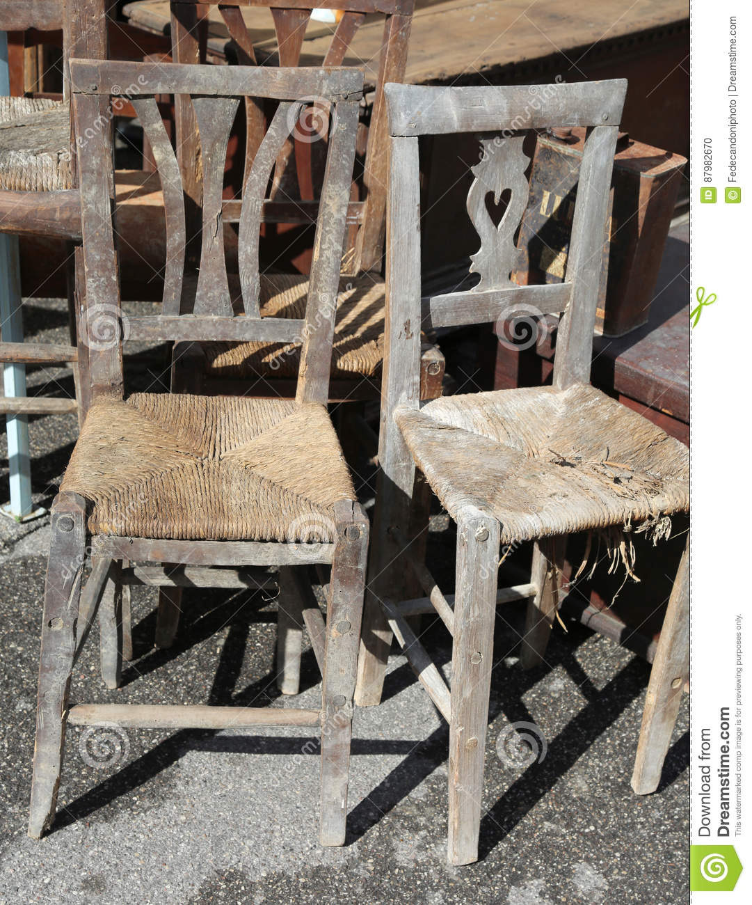 Antique Wicker Furniture for Sale Luxury Wicker Chairs for Sale In the Outdoor Antiques Market Stock