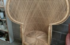 """Antique Wicker Furniture For Sale On Ebay New Vintage 62"""" Wicker Chair Peacock Fan Back Throne Natural Wood"""