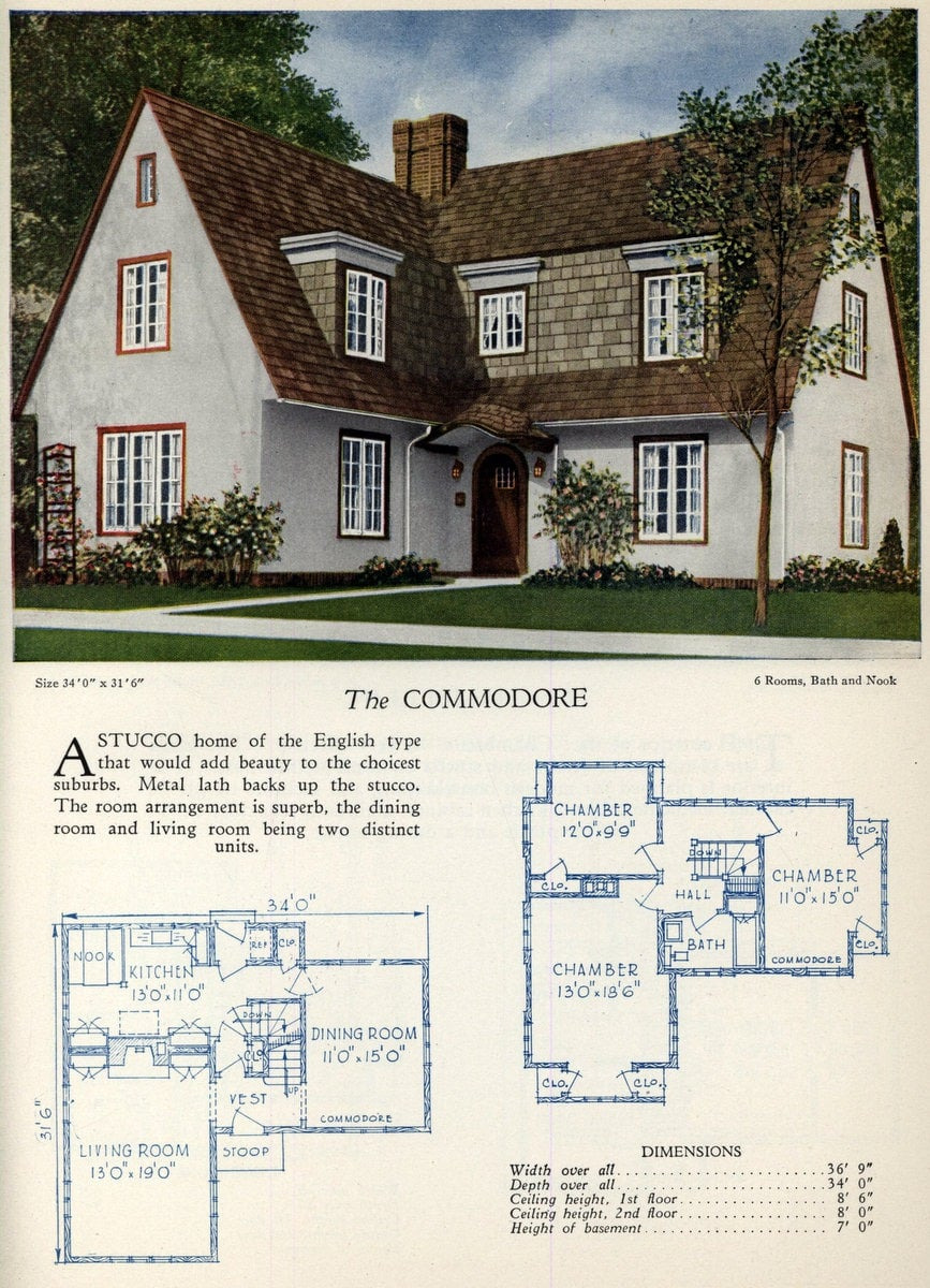Architect House Plans for Sale Awesome 62 Beautiful Vintage Home Designs & Floor Plans From the