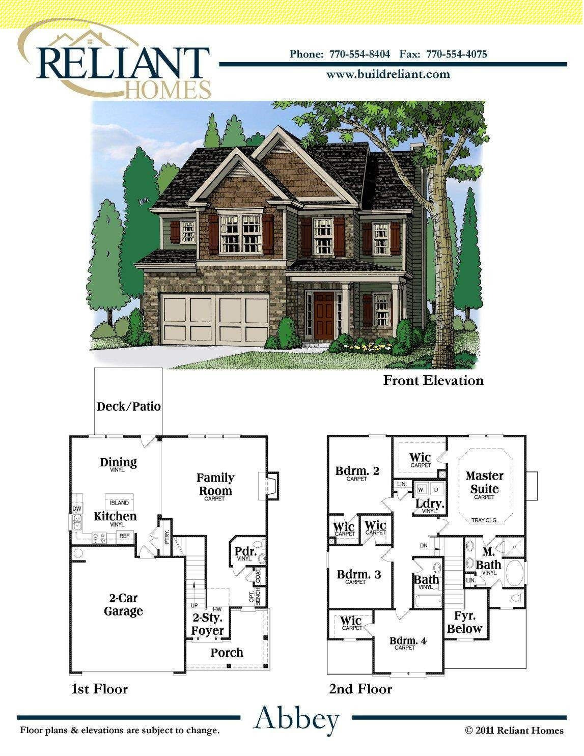 Architect House Plans for Sale New Reliant Homes the Abbey Plan Floor Plans Homes