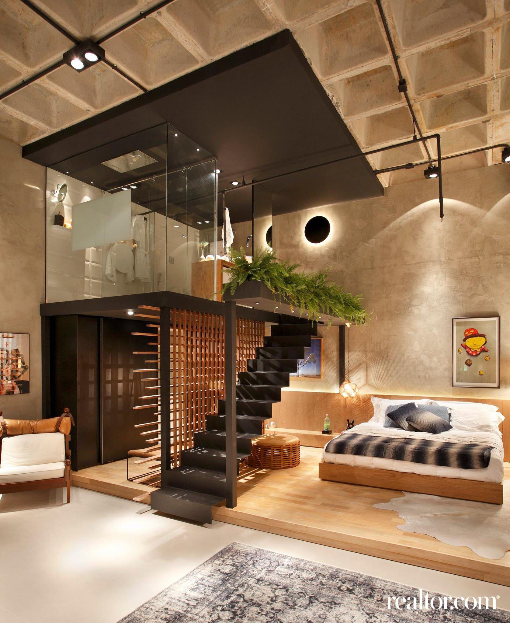 casa cor 2014 modern loft in rio de janeiro plete with floating staircase and wall to wall glass shower rdc 1677 x 2048