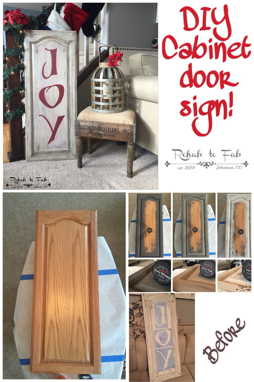 Cabinet Door Designs Awesome Diy Christmas Joy Sign Made From A Old Kitchen Cabinet Door