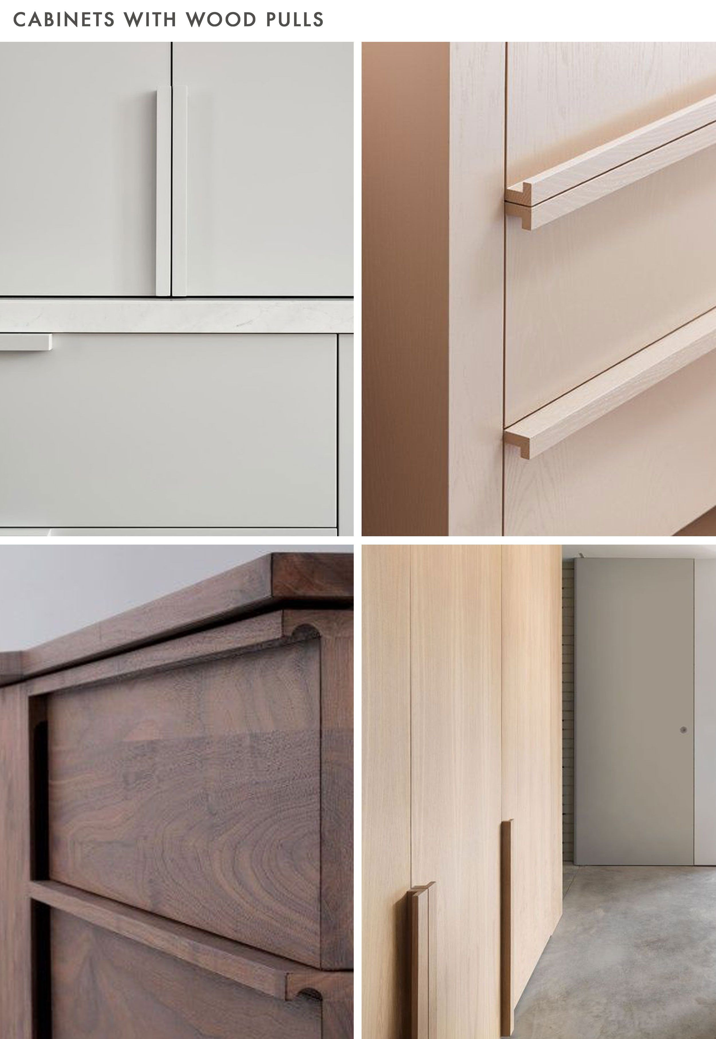 """Cabinet Door Hardware Unique is """"no Hardware"""" the New Hardware Trend for Kitchens"""