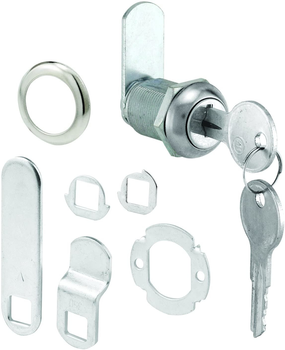 """Cabinet Door Locks Lovely Prime Line Products Defender U 9943 Keyed Different Cabinet Lock – Secure Important Files and Drawers 7 8"""" Diecast Stainless Steel Fits On 9 16"""""""