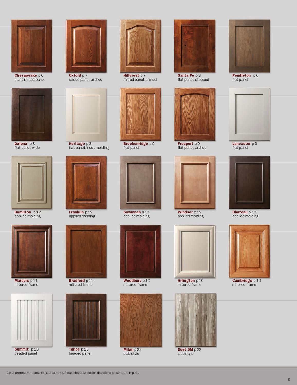 Cabinet Door Refacing Lovely Showplace Renew Refacing Styles Woods & Finishes Booklet