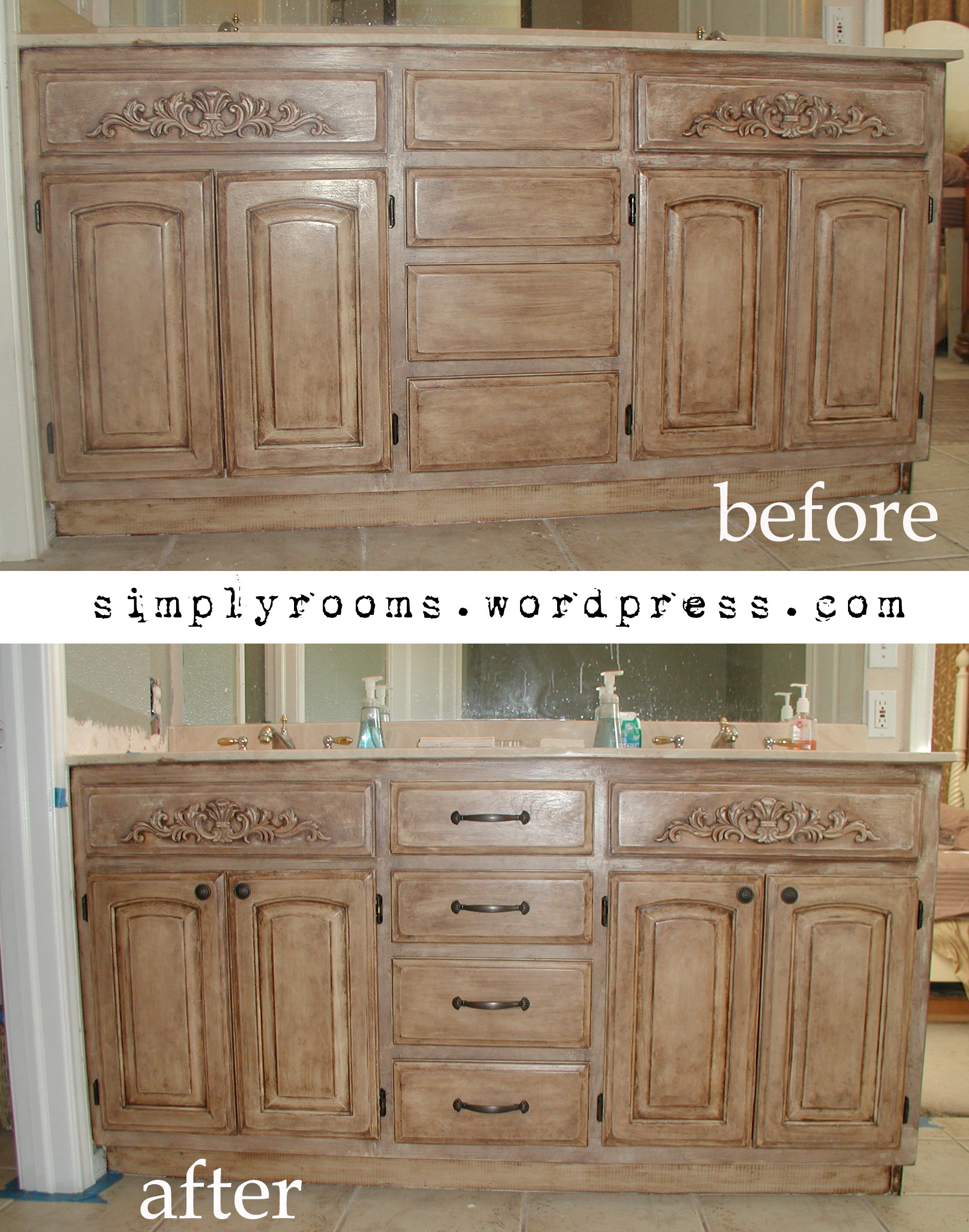 Cabinet Door World Unique Project Transforming Builder Grade Cabinets to Old World