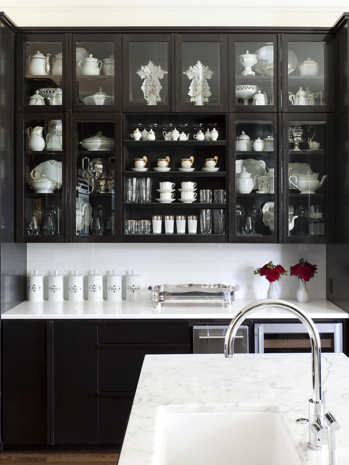 Cabinets with Glass Doors Lovely Black Kitchen Cabinets with Glass Doors