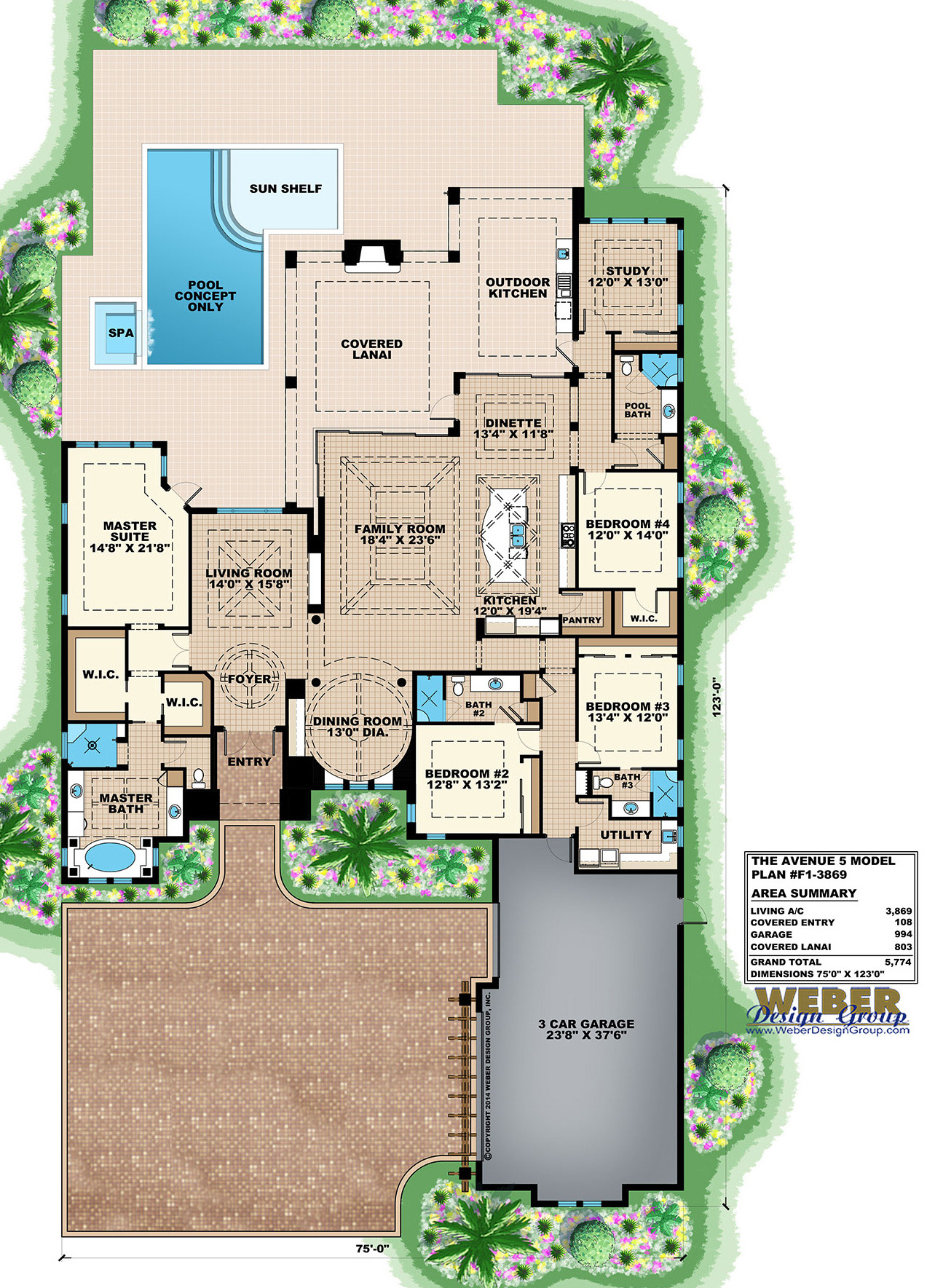 F1 3869 Avenue 5 Floor Plan 1