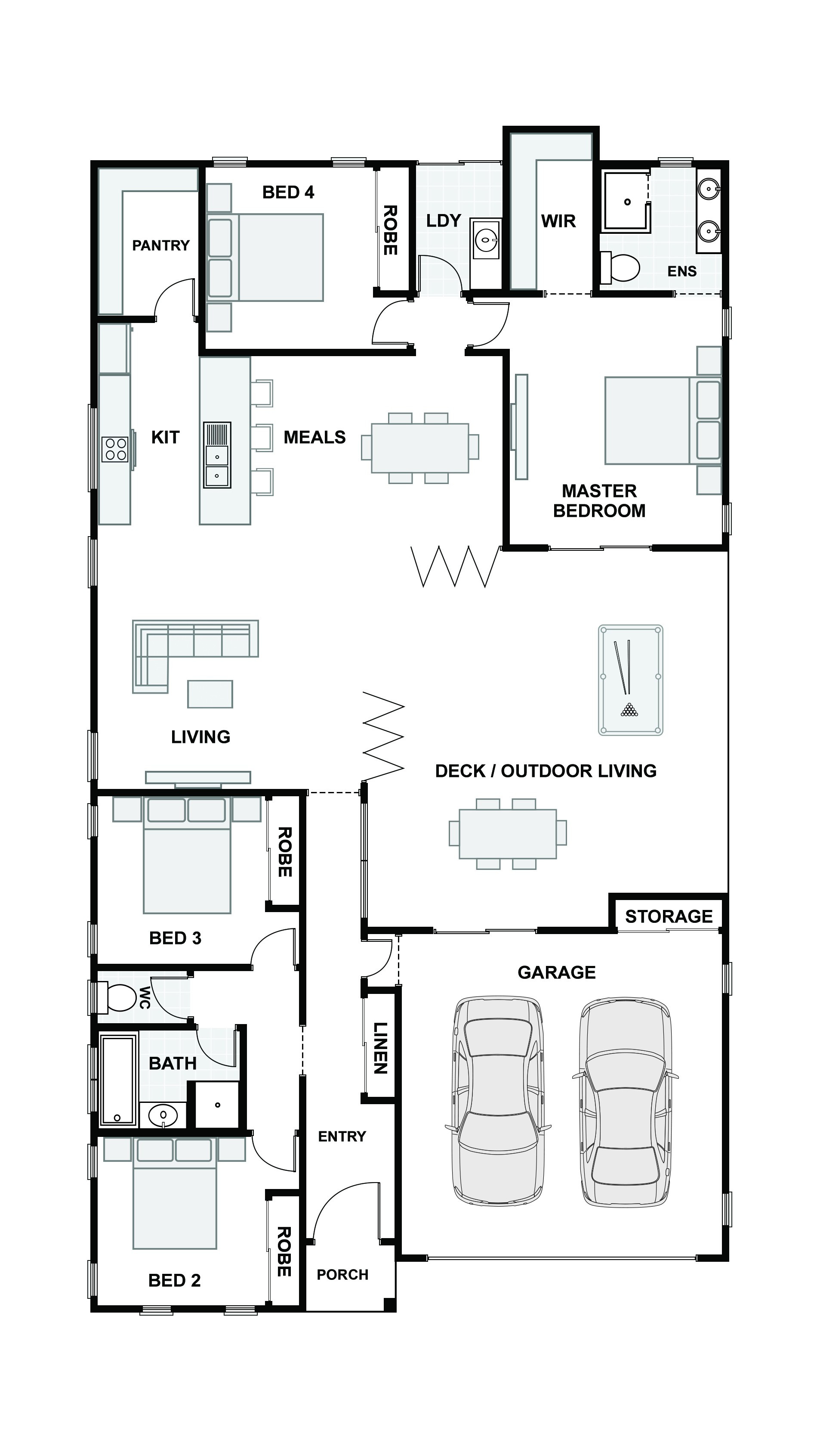 The Beach House 226 Floor Plan e
