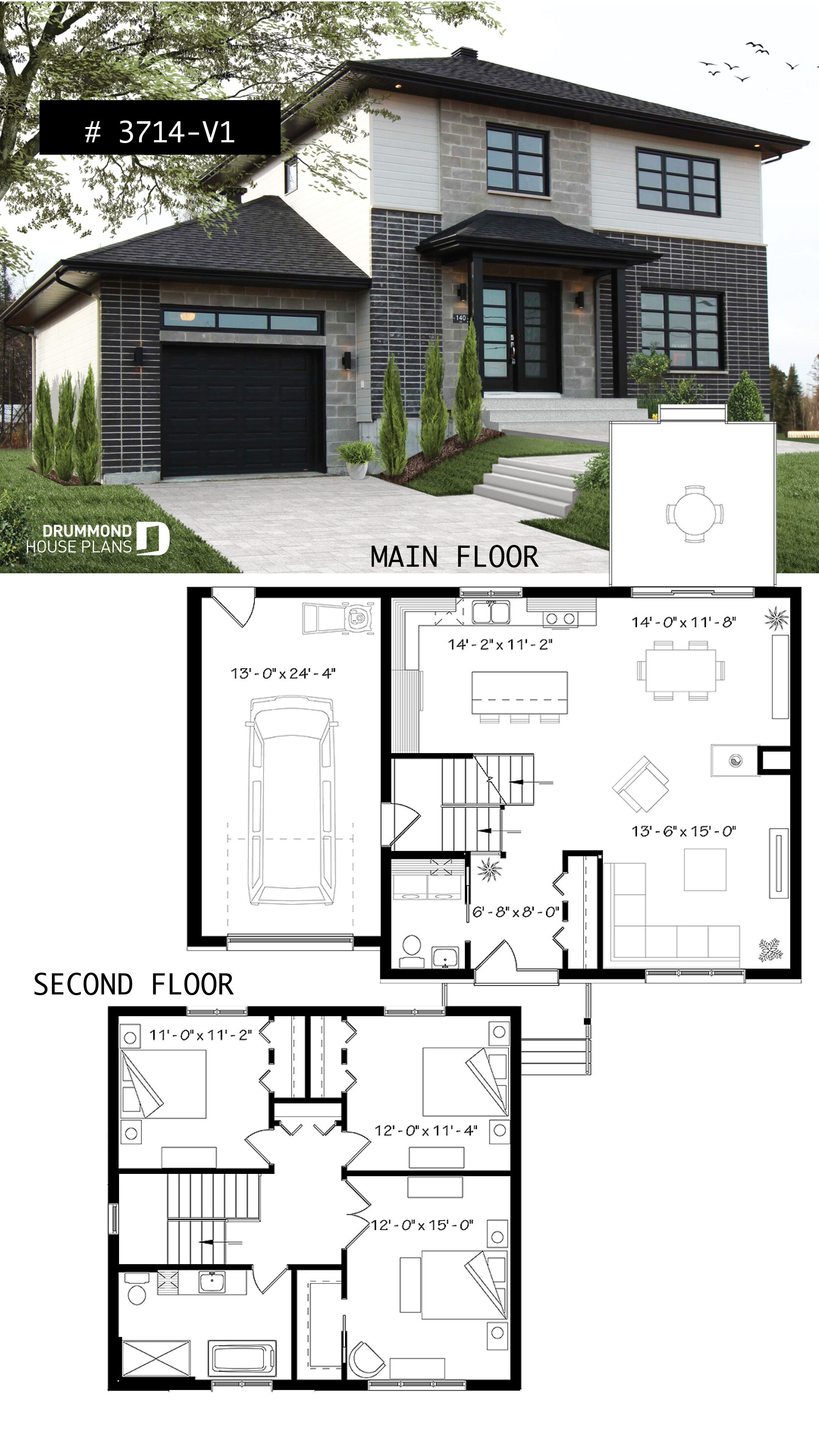 Contemporary Home Floor Plans Lovely House Plan Altair 2 No 3714 V1