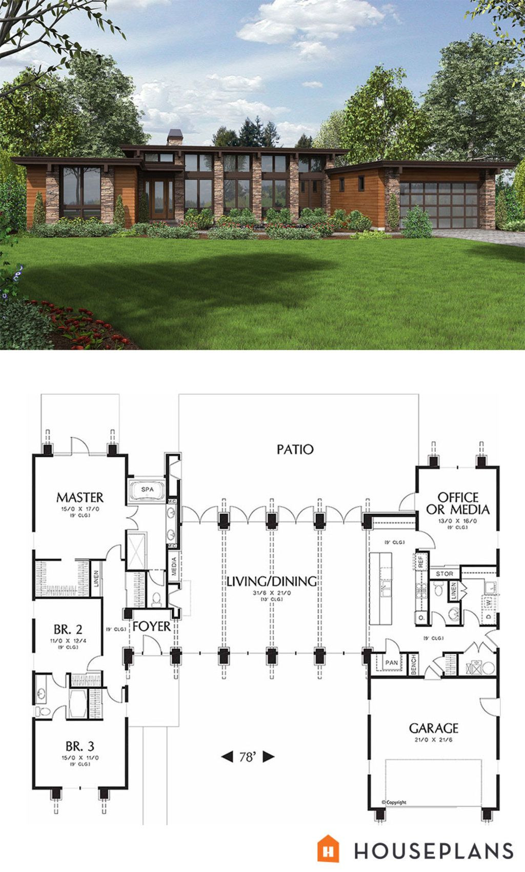 Contemporary Home Floor Plans New Modern Style House Plan 3 Beds 2 5 Baths 2557 Sq Ft Plan