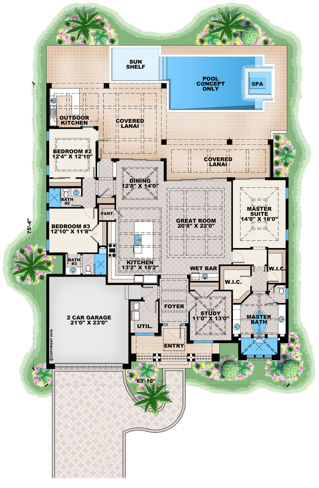 Contemporary House Plans for Sale Lovely Contemporary Style House Plan 3 Beds 3 Baths 2684 Sq Ft Plan 27 551