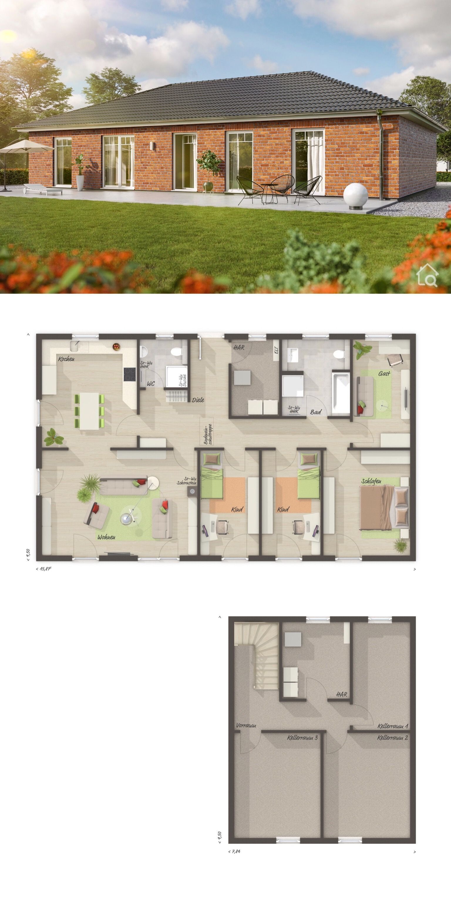Contemporary House Plans One Story New Bungalow House Plans with E Story & Basement Modern