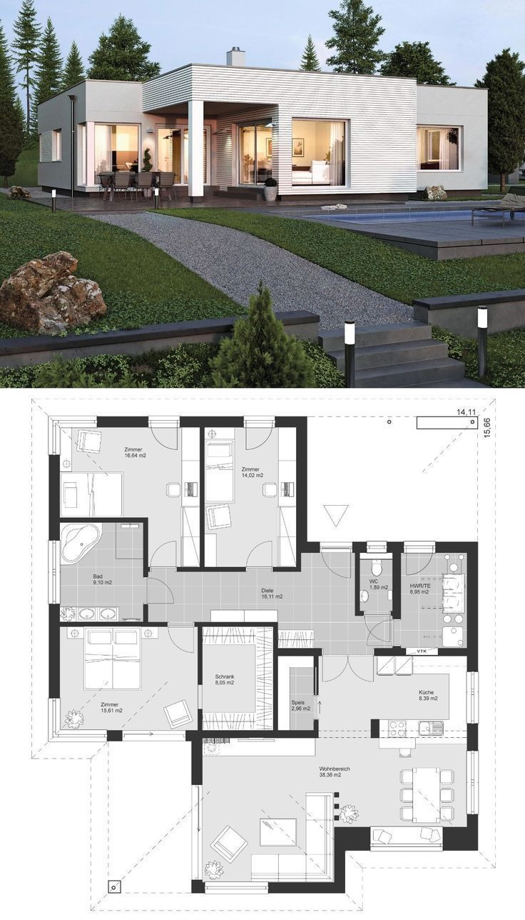 Contemporary House Plans One Story Unique Bungalow Modern Contemporary European Style Architecture