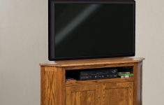 Corner Tv Cabinet With Doors New Amish Solid Wood Mission Corner Tv Stand With Two Doors