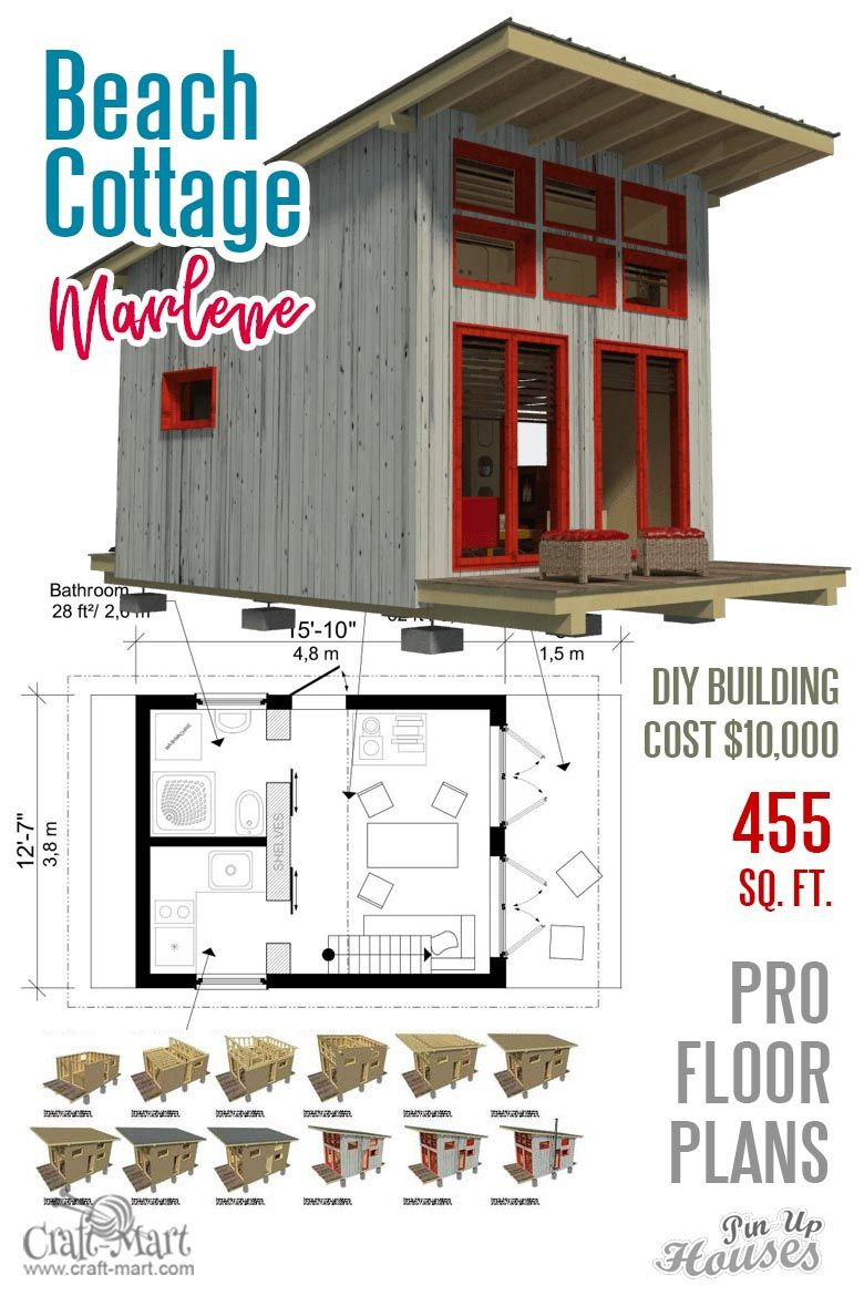 Cost to Build A Beach House Lovely Unique Small House Plans Under 1000 Sq Ft Cabins Sheds