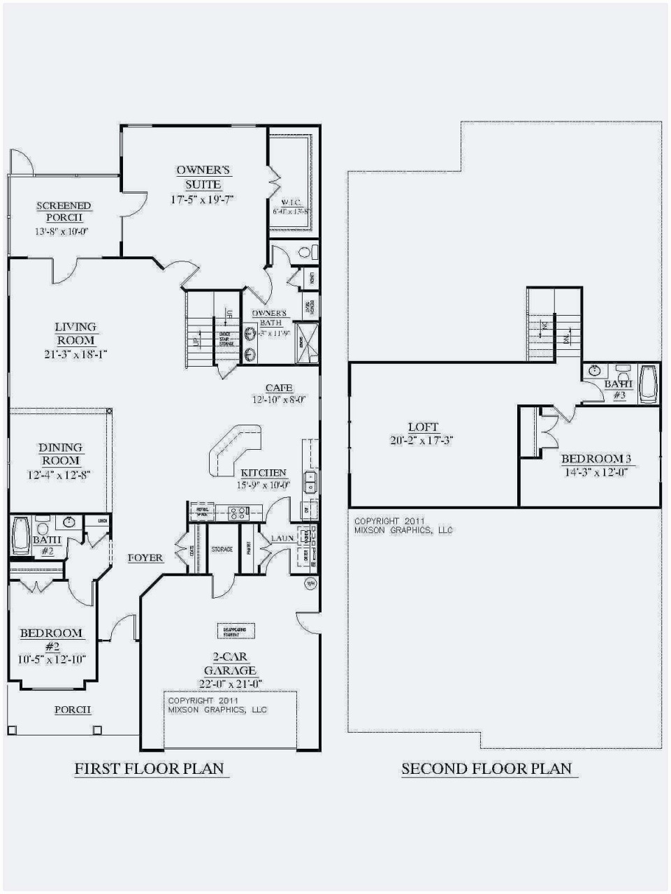 small 2 bedroom house floor plans