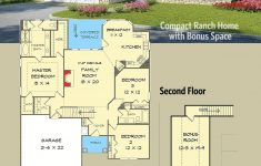 Cottage House Plans With Garage Fresh Plan Dk Pact Ranch Home With Bonus Space