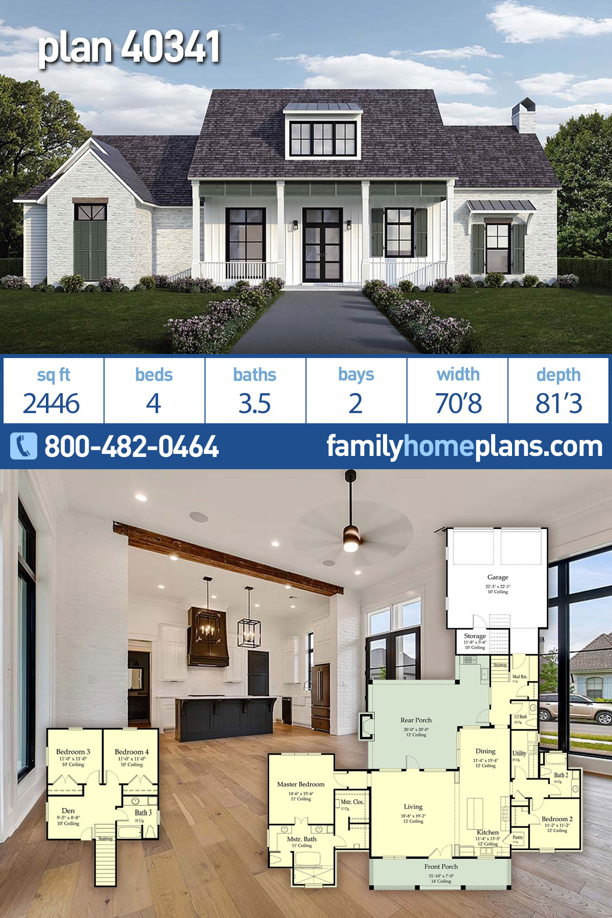Country Style House Plans with Porches Lovely southern Style House Plan with 4 Bed 4 Bath 2 Car Garage