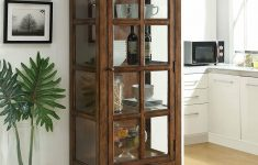 Curio Cabinets With Glass Doors Best Of Charmine Wooden Lighted Curio Cabinet