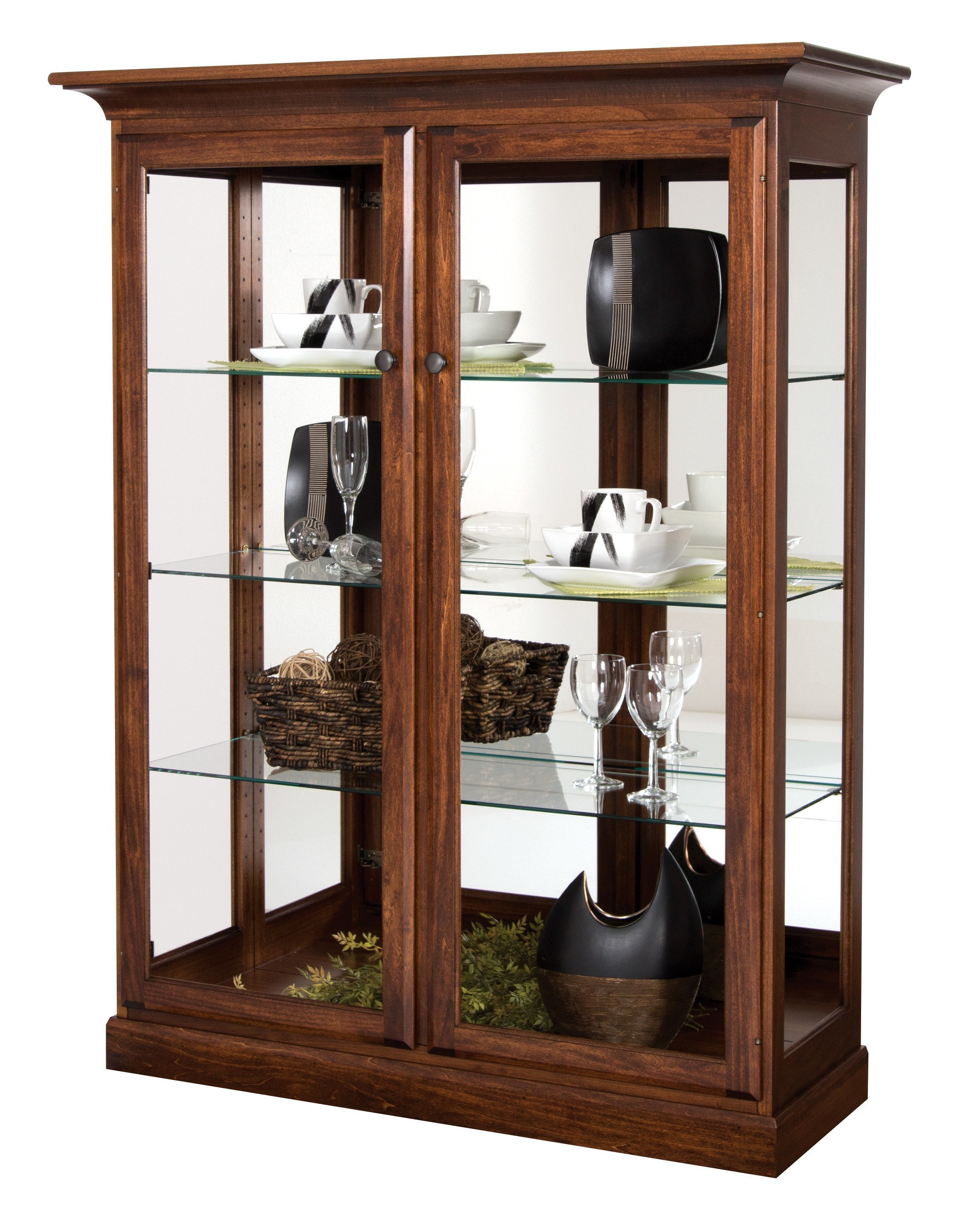 Amish Two Door Curio Cabinet