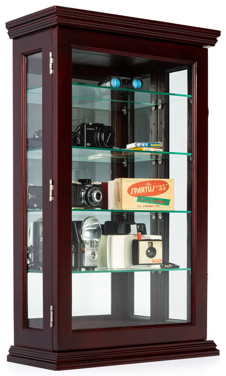 Curio Cabinets with Glass Doors Inspirational Wall or Counter Curio Cabinet W Mirror Back Adjustable Shelves Locking – Mahogany