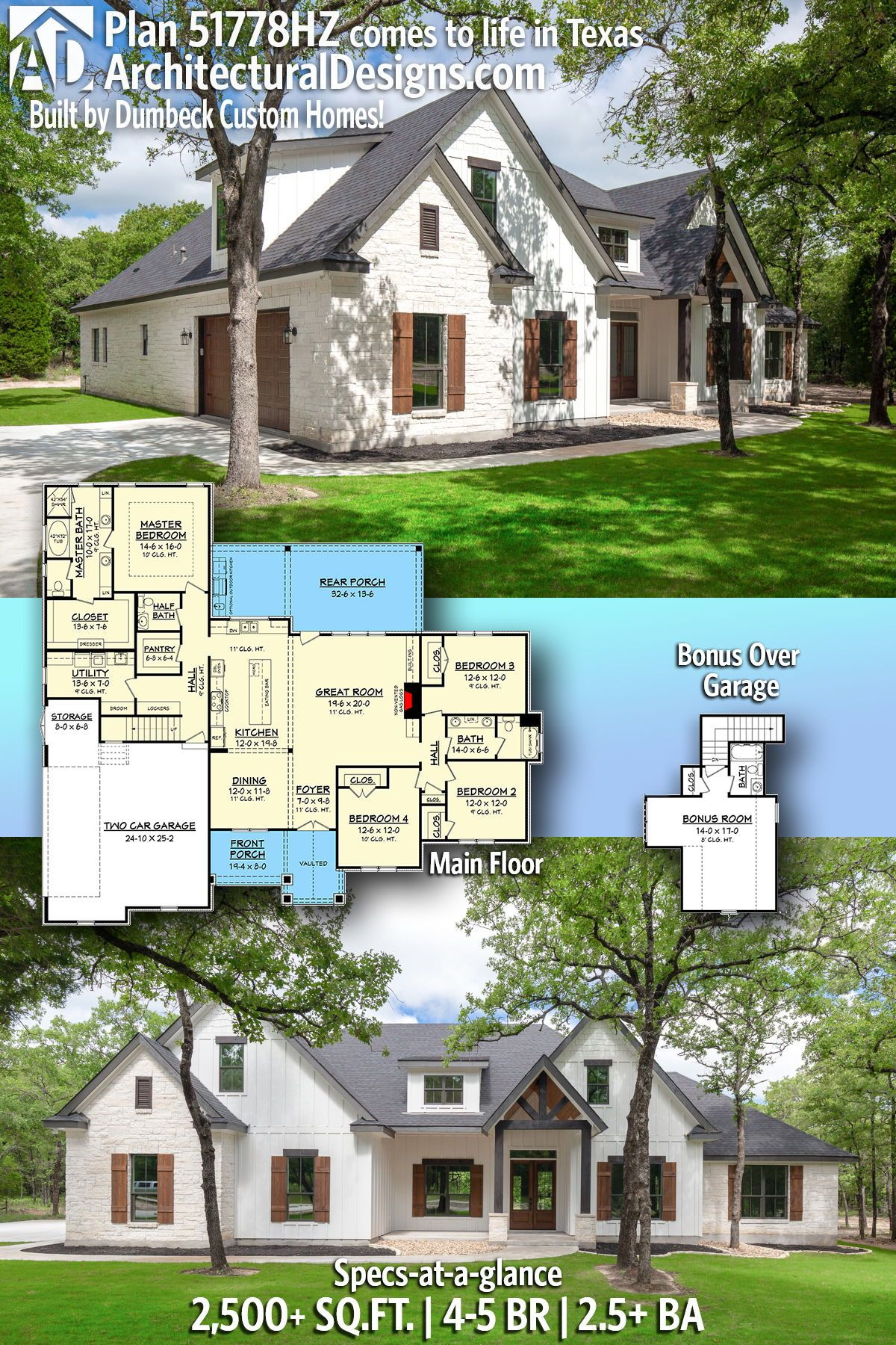 Custom Craftsman House Plans Fresh Plan Hz Open Concept 4 Bed Craftsman Home Plan with