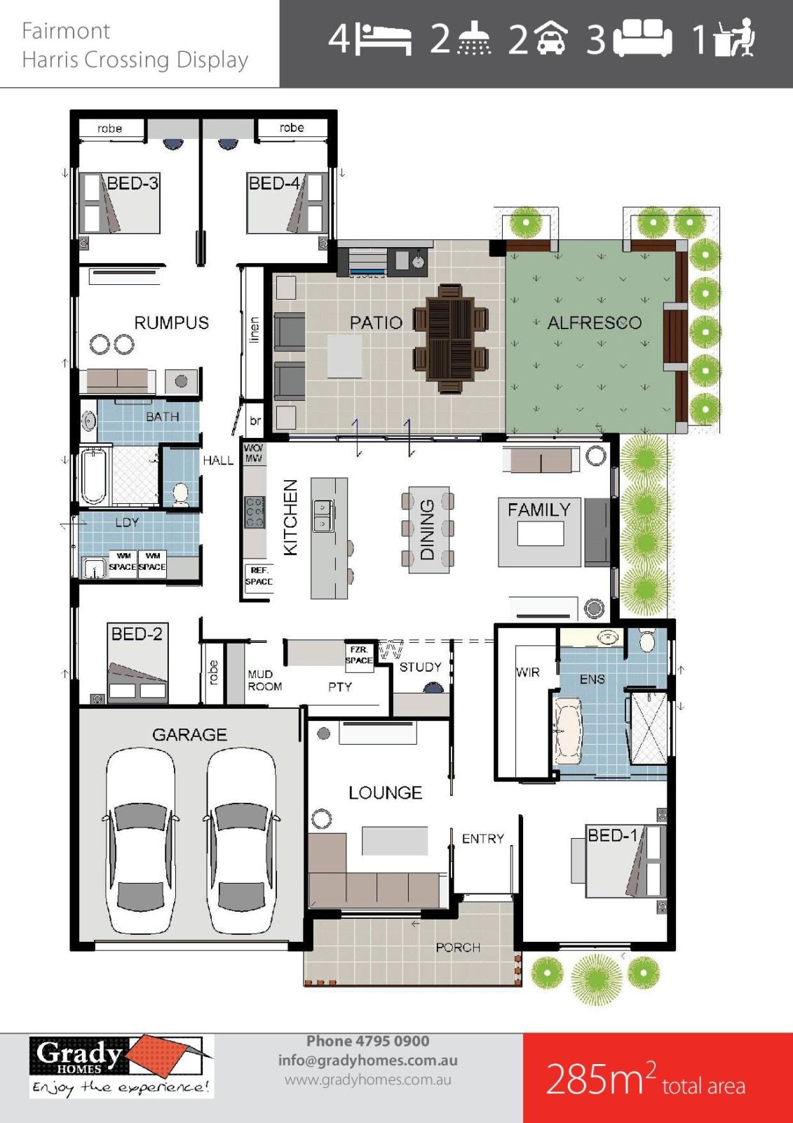 Fairmont Display Grady Homes Floor Plan 1