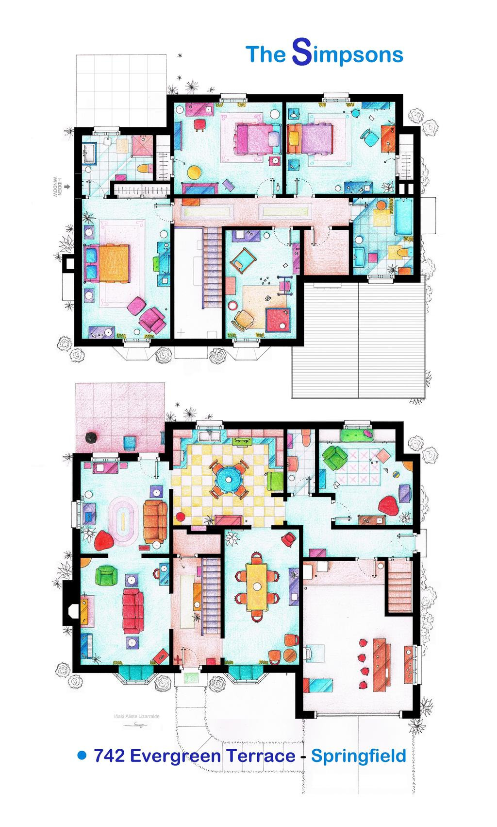 Design My Own House Plan Beautiful House Of the Simpsons Poster Version by Nikneuk On Deviantart
