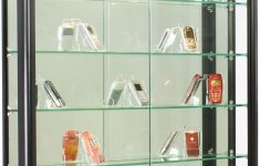 Display Cabinet With Glass Doors Awesome Wall Mounted Black Aluminum Glass Display Cabinet Illuminated Locking Sliding Glass Doors Ships Fully Assembled