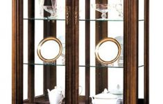 Display Cabinet With Glass Doors Luxury Casa Padrino Luxury Art Nouveau Display Cabinet Dark Brown 114 5 X 42 5 X H 206 Cm Living Room Cabinet With 2 Glass Doors And 4 Drawers Living
