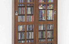 Dvd Cabinet With Doors Lovely Leslie Dame Mission Multimedia Dvd Cd Storage Cabinet With Sliding Glass Doors Walnut