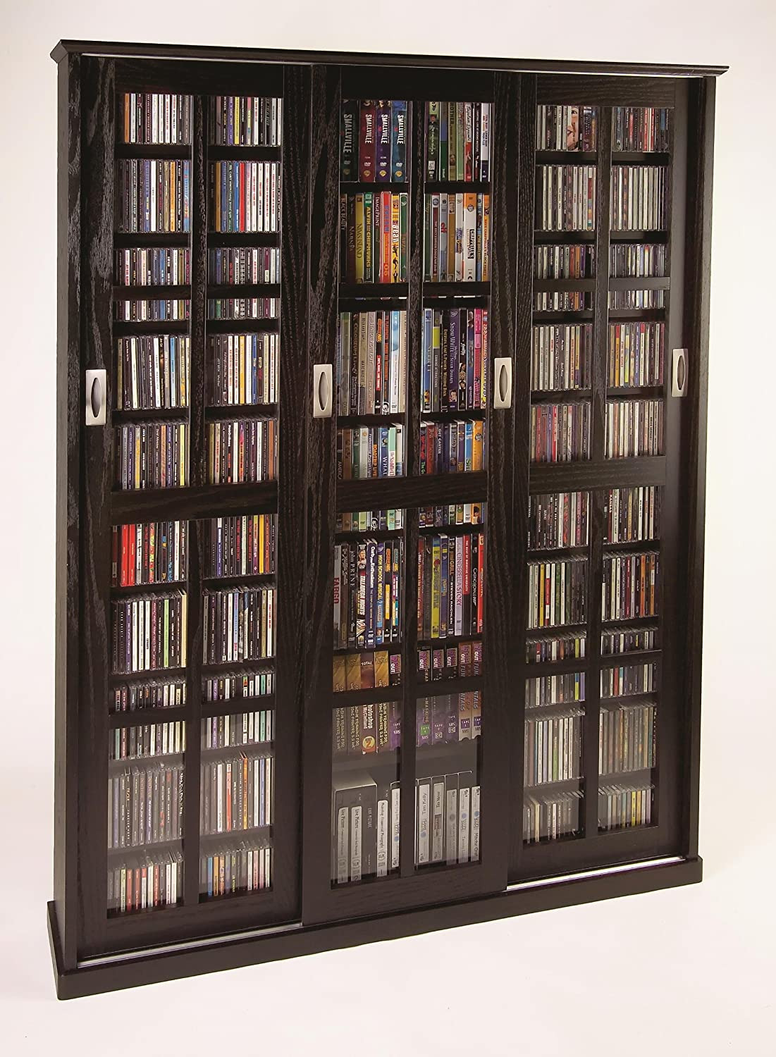 Dvd Storage Cabinet with Doors Fresh Leslie Dame Multimedia Wall Cabinet Espresso