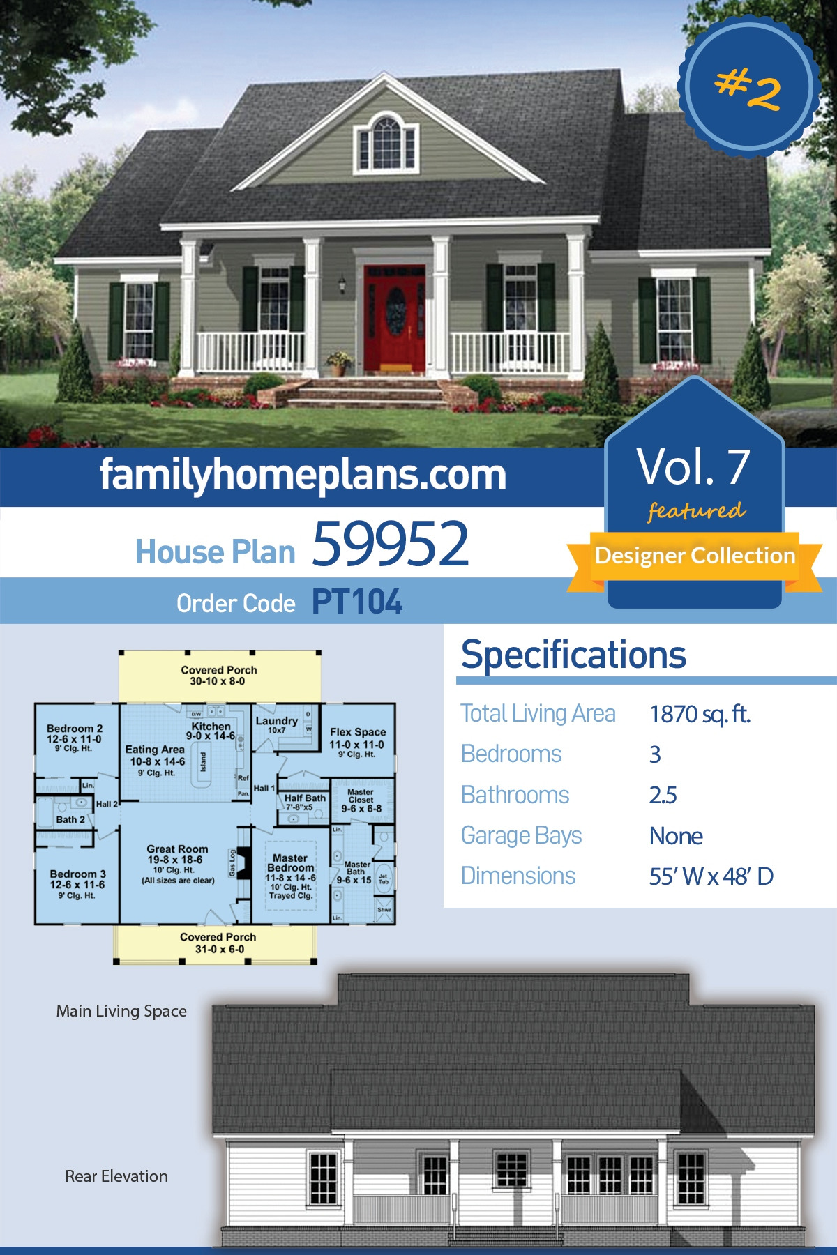 Elevated House Plans with Porches Awesome Traditional Style House Plan with 3 Bed 3 Bath