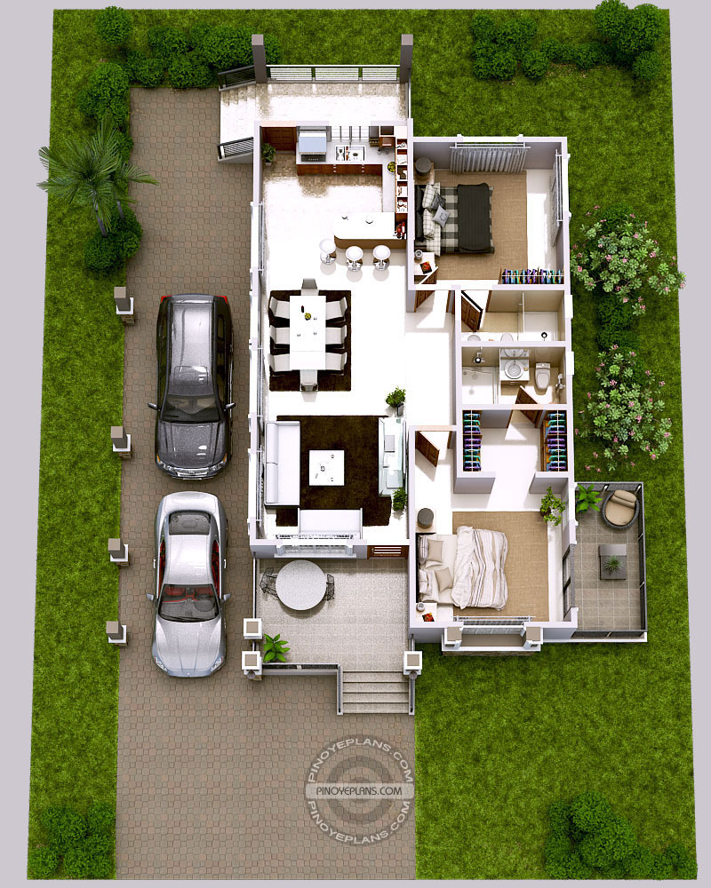 luxury 2 bedroom elevated house design