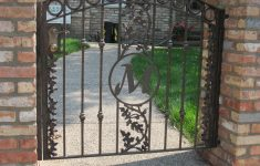 Entrance Gates Designs Show Pictures New Arched Top Iron Gate With Forged Spokes Oak Leaf Design