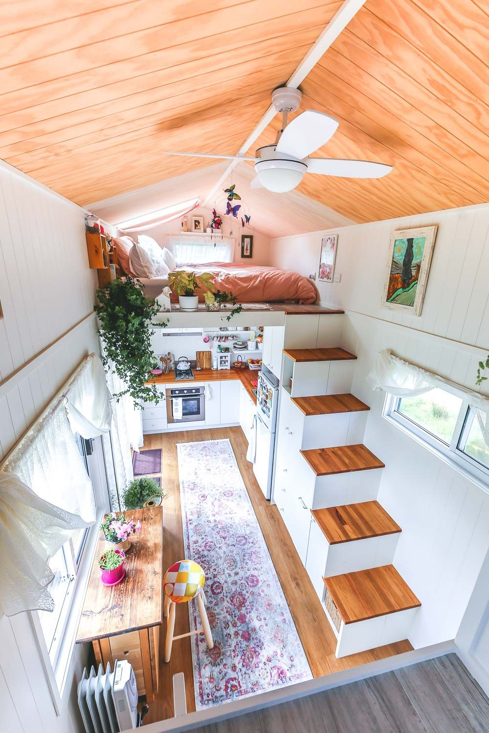 Floor Plans for Tiny Houses On Wheels Luxury Woman S Dream Tiny House even Has A Walk In Wardrobe