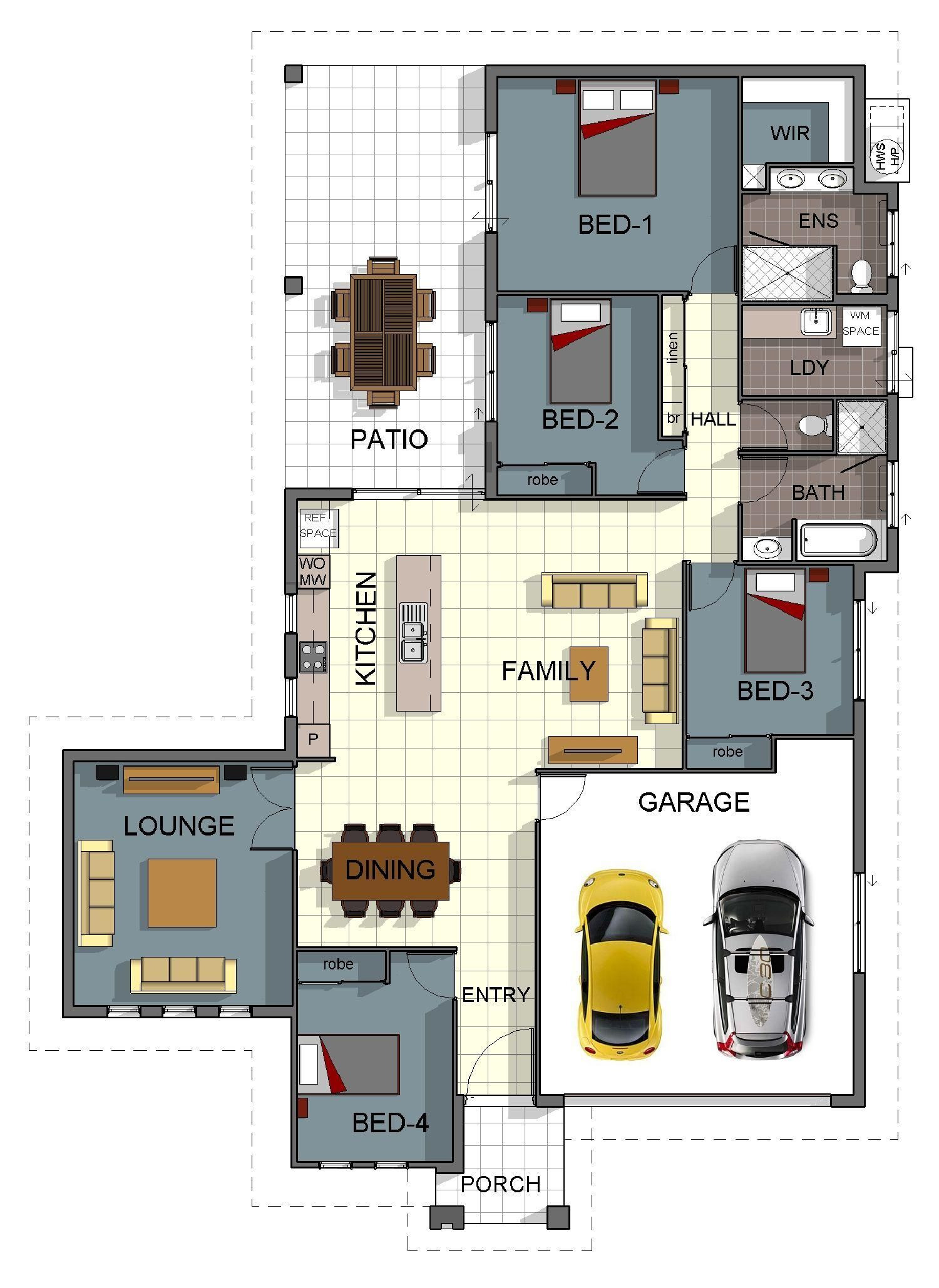 Four Bedroom Bungalow House Plans Lovely Single Storey 4 Bedroom House Floorplan with Additional