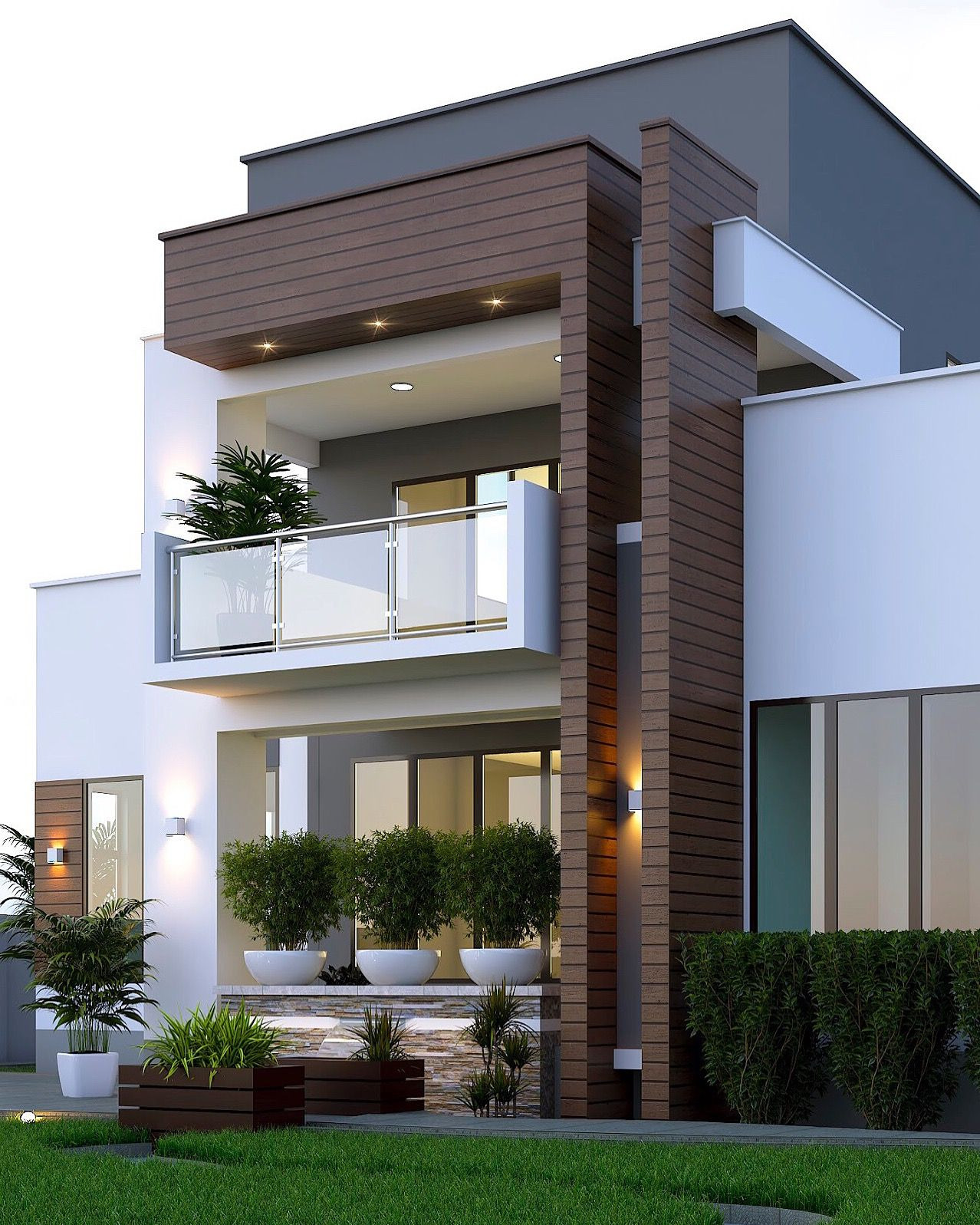 Front View Of A Simple House Elegant Home by Egmdesigns