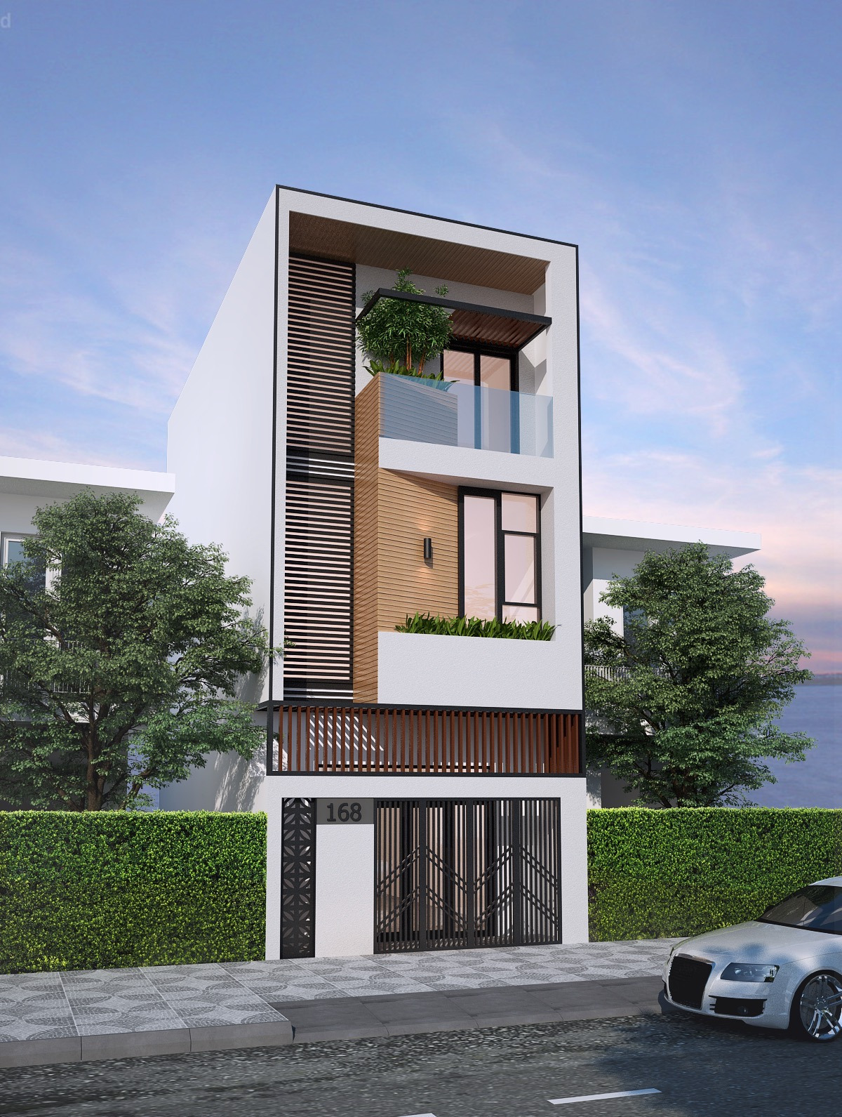 Front View Of A Simple House Lovely 50 Narrow Lot Houses that Transform A Skinny Exterior Into