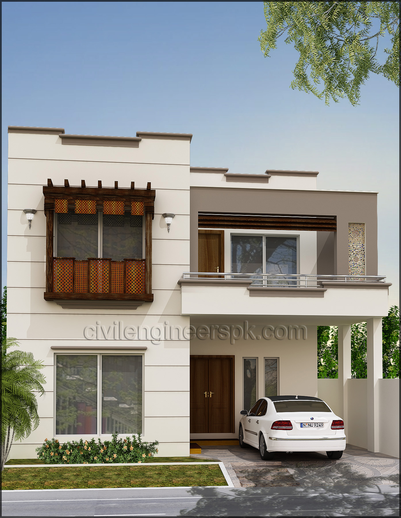Front View Of A Simple House Unique Front Views Civil Engineers Pk