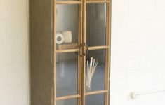 Glass Door Cabinet Luxury Kalalou Wood And Metal Cabinet With Glass Doors