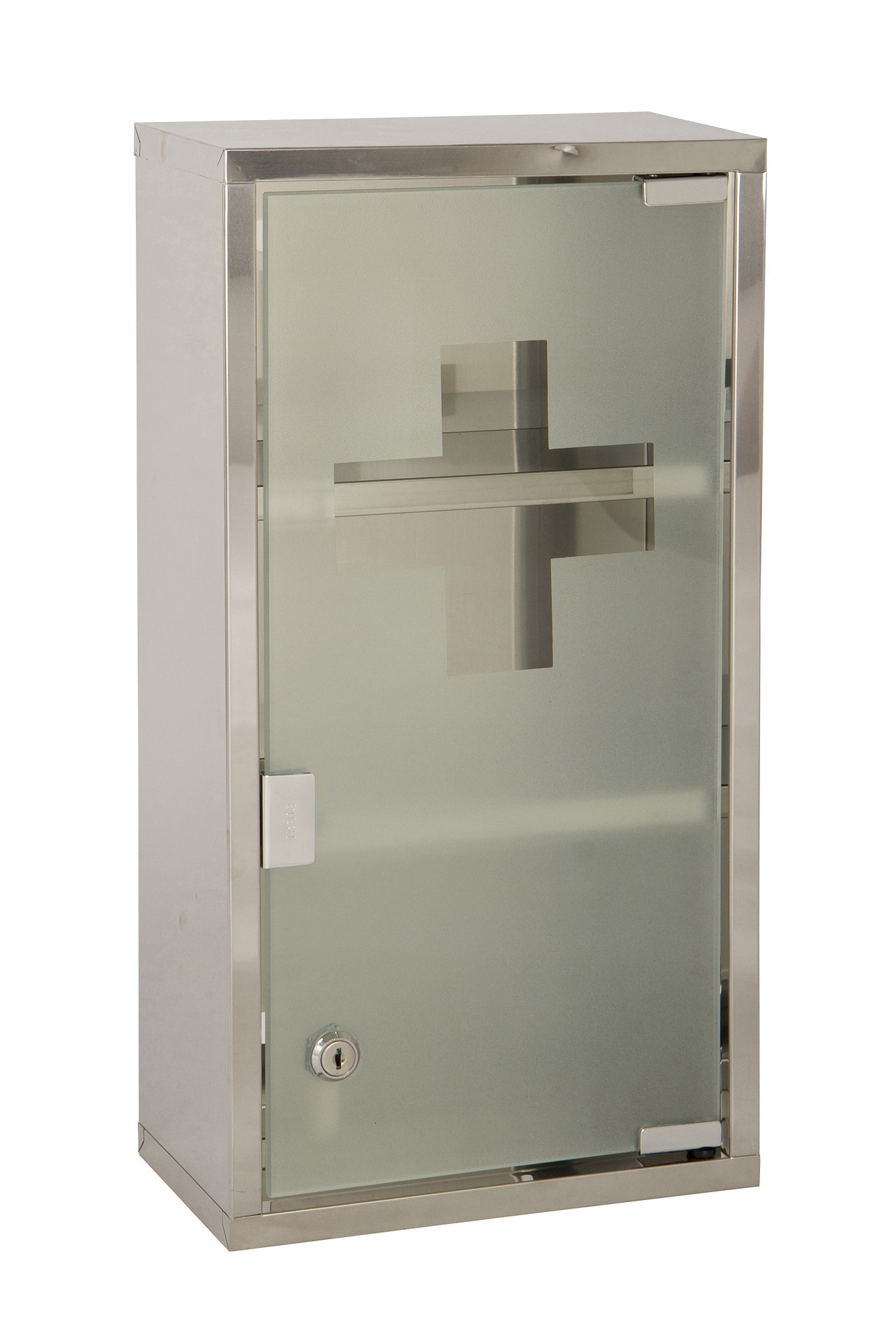 Glass Door Wall Cabinet Beautiful Details About Wall Mounted Lockable 2 Keys Medicine Cabinet First Aid Box Glass Door