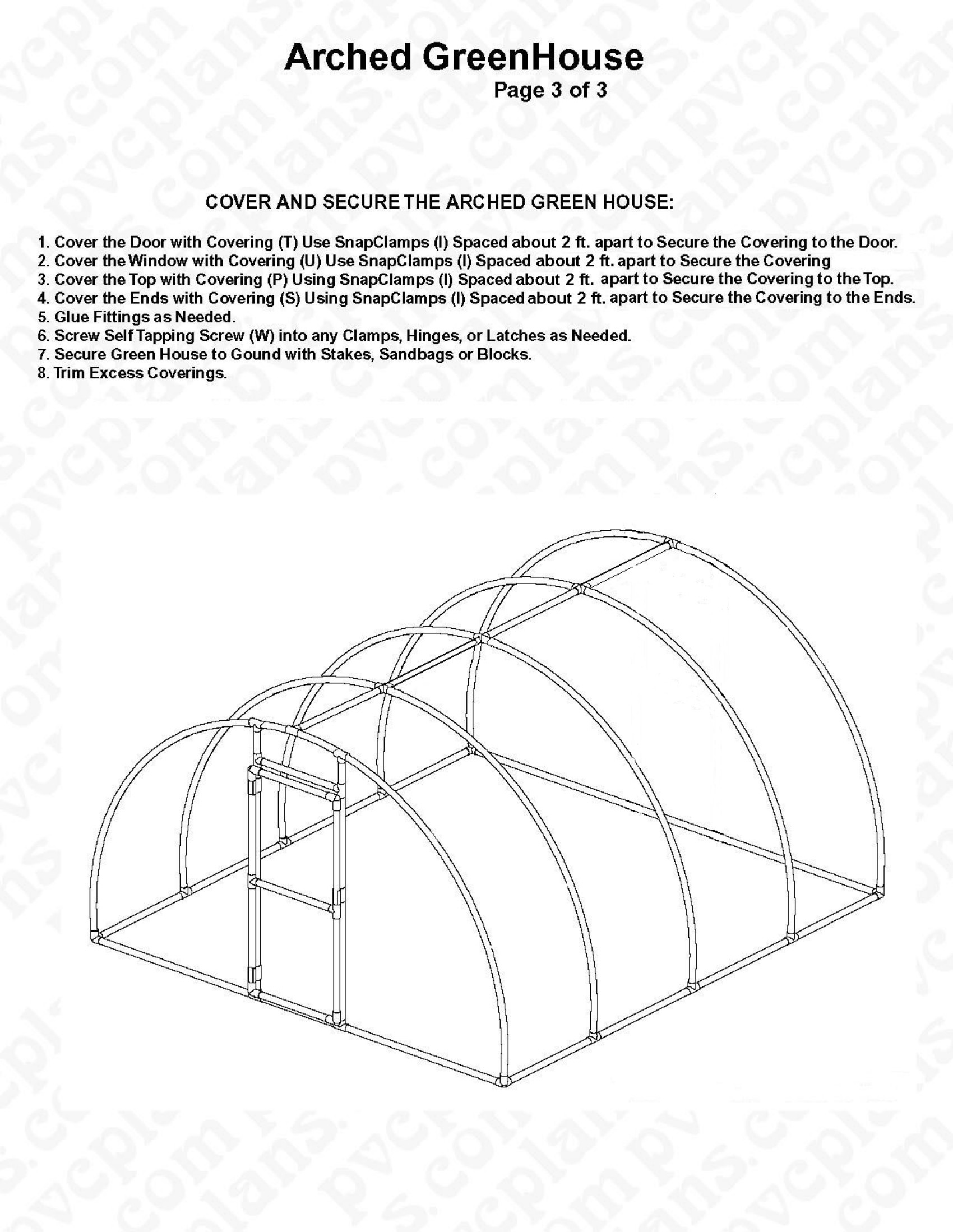 Green House Plans with Photos Luxury Free Plans for An Arched Pvc Pipe Greenhouse