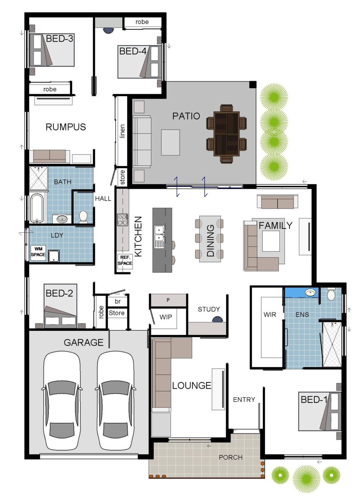 Fairmont 1A Standard House Floor Plan Grady Homes