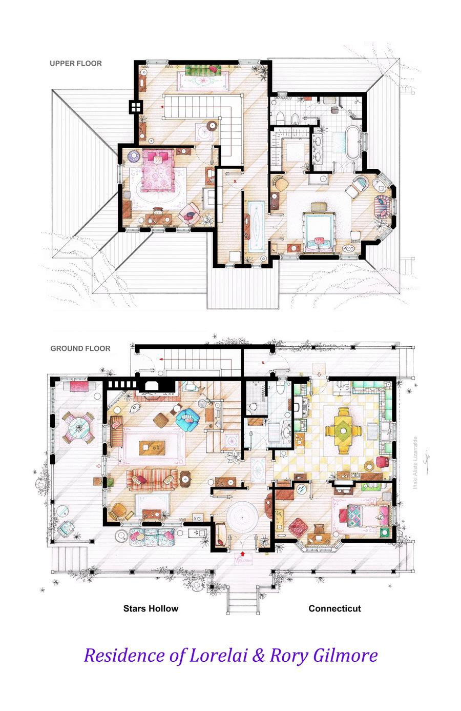 House and Floor Plans Fresh House Of Lorelai and Rory Gilmore Floorplans by Nikneuk On